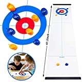 OPLIY Tabletop Curling Game,Compact Curling