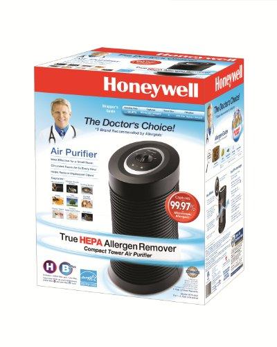 Honeywell Black True HEPA Compact Tower Allergen Remover, HPA-050