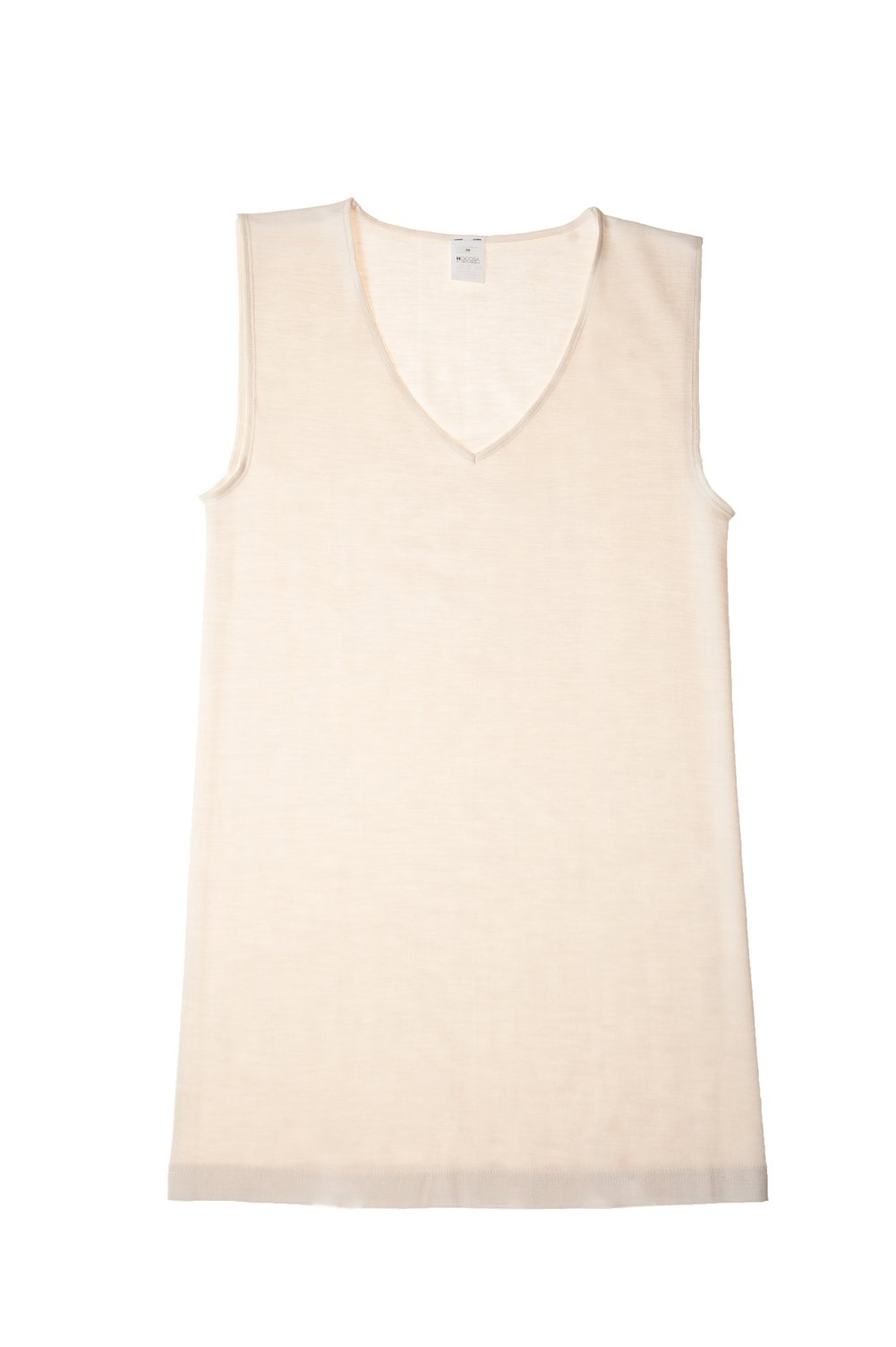 Hocosa Organic Wool-Silk Underwear Shirt for Women, White, size 42/US12