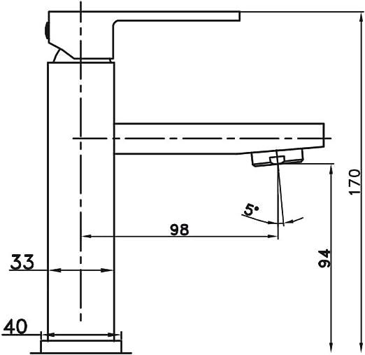 Grifería GME para Lavabo Orion Monomando: Amazon.es: Hogar