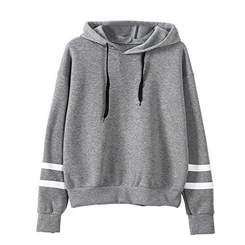 KESEELY Clearance Coat ☀ Women Sheer Lace Long Sleeve Hooded Patchwork Sweatshirt Pockets