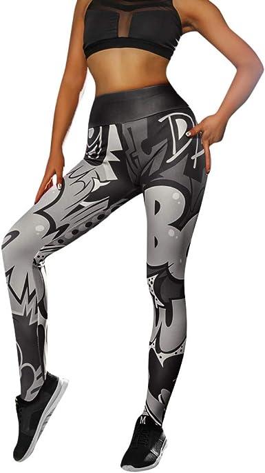 TEBAISE Femmes Taille Haute Yoga Shanti Imprimer Legging