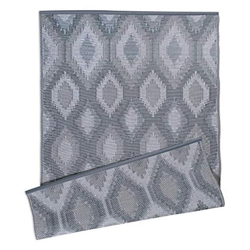 Garden and Outdoor DII Reversible Indoor/Outdoor Ikat Woven Rug, 4 x 6′, Gray outdoor rugs