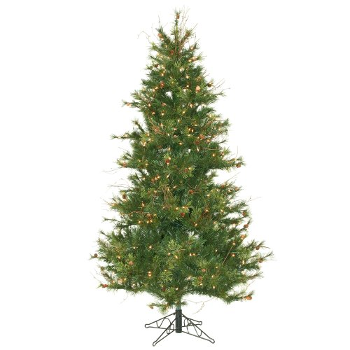 Vickerman 65' Slim Mixed Country Pine Artificial Christmas Tree with 400 Clear lights