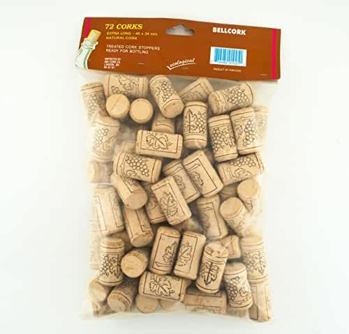 72 Bellcork #9 Long 45 X 24 mm Winery Grade Natural Cork Stopper