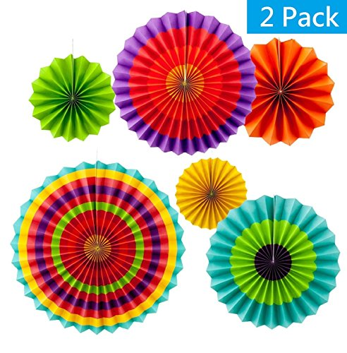 Vibrant Hanging Rosettes Decoration Various product image