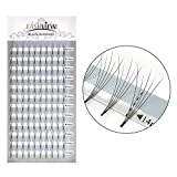 LASHVIEW Natural Long mink lashes cluster lashes Rapid Cluster Lashes Pro Granting 0.07mm C Curl 5D Volume Eyelash extensions 14mm eyelashes extension cluster 5d individual pack cluster lash extension