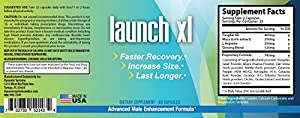 Launch XL Male Enhancement Pills for Enlargement, Increased Stamina and Libido- 1 Month