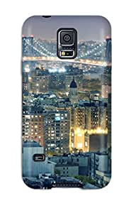 Durable Protector Case Cover With Williamsburg Bridge Man Made Hot Design For Galaxy S5 With Free Screen Protector