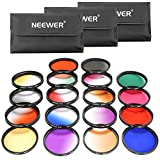 Neewer 58MM 18 Pieces Lens Filter Kit Includes: 9 Pieces Full Color Filter, 9 Pieces Graduated Filter, 3 Filter Pouch for Canon Rebel (T5i T4i T3i T3 T2i T1i XT) and Other DSLR Camera with 58MM Lens