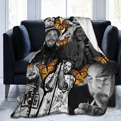 GIPHOJO Soft Po-st Ma-Lone Plush Throws Blanket