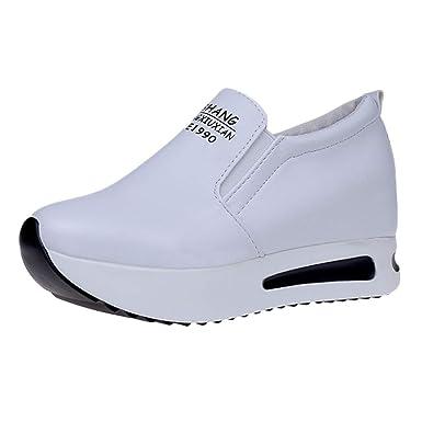 Darringls Navidad Zapatos para Mujer,Zapatillas Platform Punta Redonda Botas Aumentar Dentro Zapatos de cuña con Cojines de Aire Calzado: Amazon.es: Ropa y ...