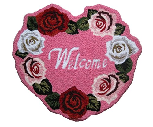 MeMoreCool Roses Welcome Doormats Footmats Area Rugs 28 X 26
