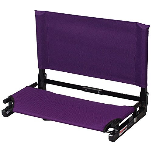 Purple Stadium - The Stadium Chair Deluxe Wide Model Game Changer Stadium Chair, Purple