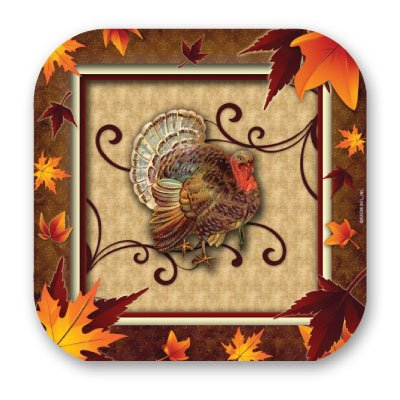 Fall Turkey 9 Plate 8 Ct,Axiom International,73915 by DollarItemDirect