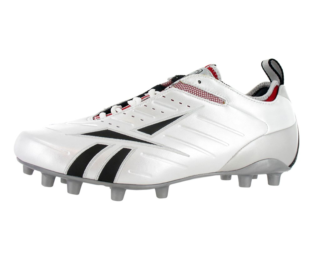 Reebok Men's Bulldodge Low M2 III KFS Lacrosse Shoe,White/Black/Silver/Red,11.5 M US by Reebok