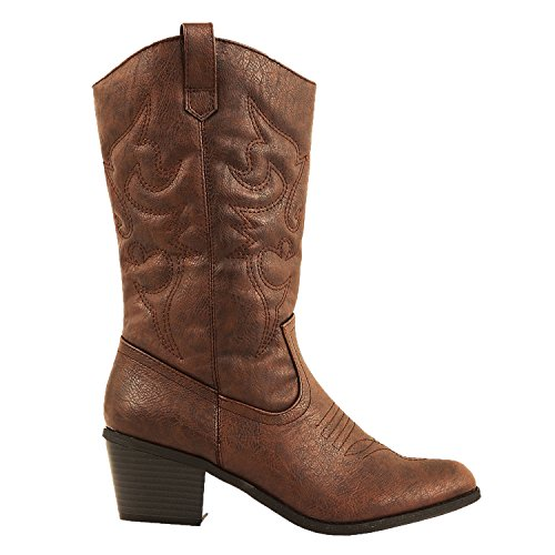 Cowboy Western Womens Ankle Boot - 3