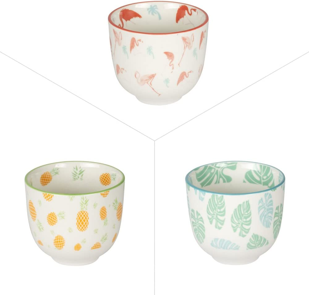 Table Passion Set of 6 Tumblers has the 6 ml Porcelain Assorted