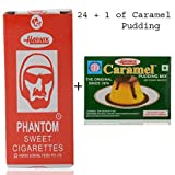 Harnik Phantom Sweet Cigarette Candy (Pack of 24) +1 Pkt Caramel Pudding Mix