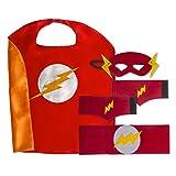 Boys Superhero Costume Set: (5 Masks, Belts Capes and 5 sets of Wrist Bands)