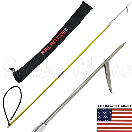 Scuba Choice SCPSS1-02-06B 6 feet ravel Spearfishing 2Piece Fiber Glass Pole Spear Single Barb Tip w/ Bag