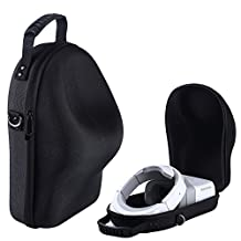 Hard EVA Travel Case for DJI Goggles Immersive FPV Double HD Screens Drone Accessories Hardshell Housing Bag Storage Box With Belt (Black)