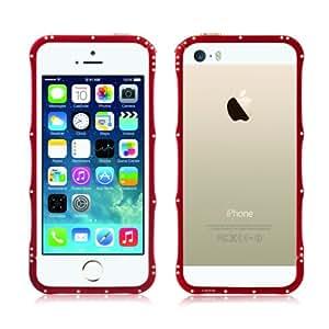 Alienwork Funda para iPhone SE/5/5S protectora bumper case Aluminio rojo AP525-04