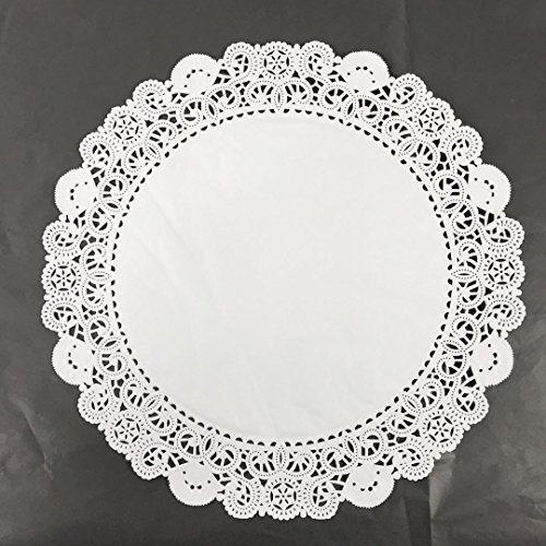 Black Cat Avenue White Disposable Paper Lace Doilies, 18 Inches, 25 Count ()