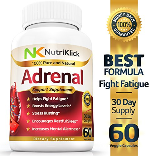 Adrenal Fatigue – Support – Health Supplement – Helps fight Stress & Mood swings – Boost Energy & Mental Alertness – Encourages Restful Sleep – Increases Concentration – 30 Day Supply Review