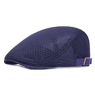 Leucos Ticte Men Breathable mesh Summer Hat Newsboy Beret Ivy Cap Cabbie Flat Cap