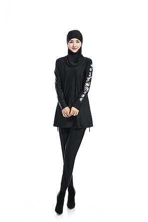 be55826cd6 Women Printed Floral hijab Muslim Swimwear Beach Bathing Suit Muslimah  Islamic Swimsuit Swim Surf Wear Sport