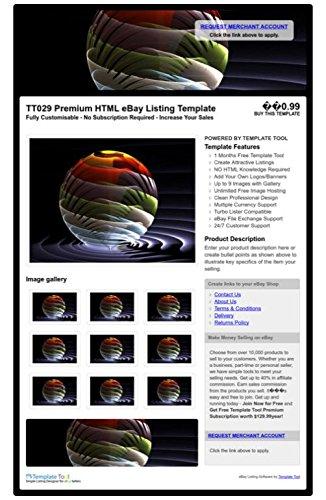 TT029 Premium HTML eBay Listing Template, Professional Auction ...