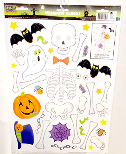 Window Glass Clings Halloween Decoration Build A Skeleton NIP