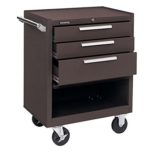 g 273B 3-Drawer Roller Tool Cabinet With Chest Wheels And Friction Slides, Brown Wrinkle ()
