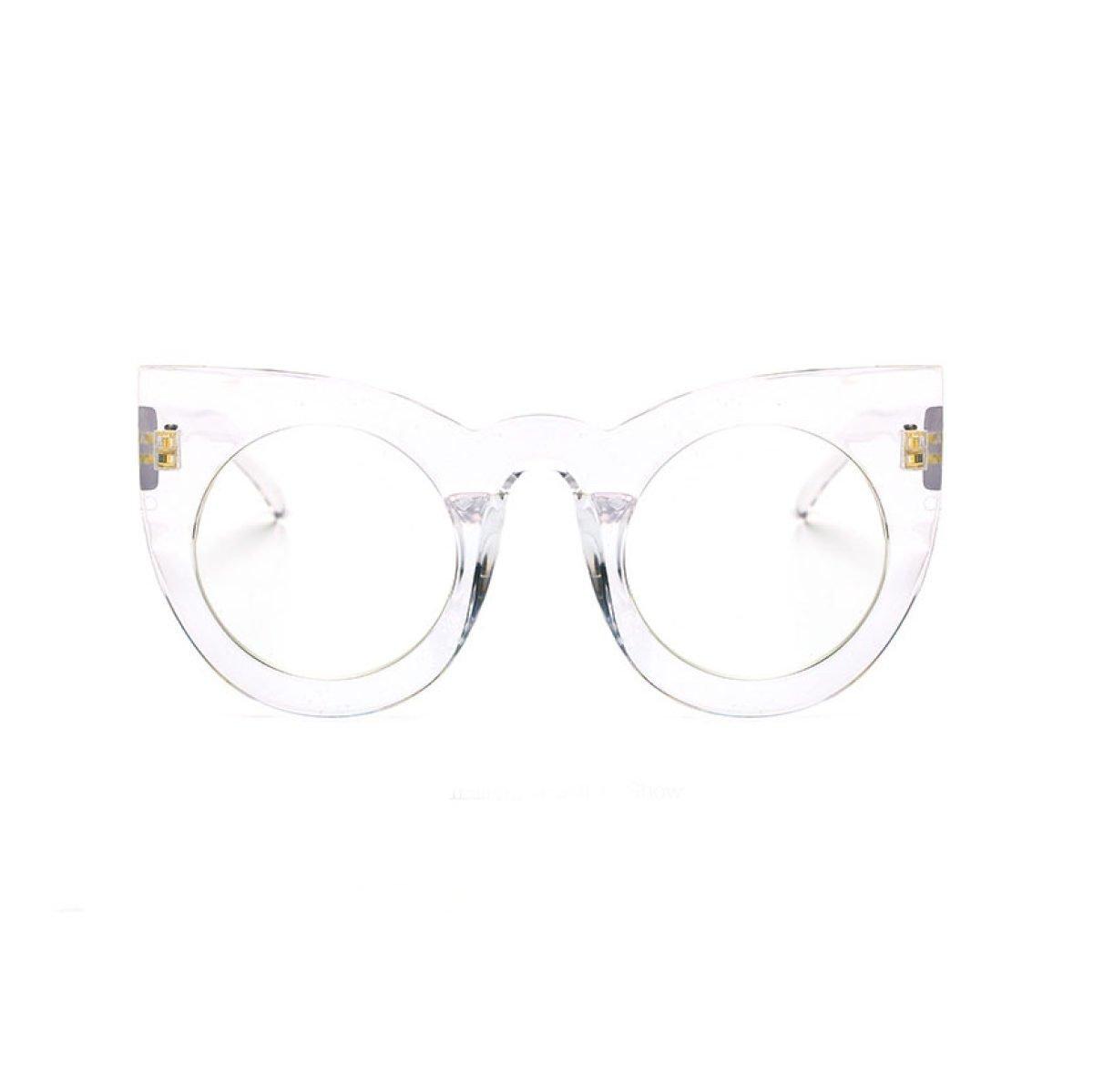 Frau HAOYUXIANG Mode Persönlichkeit Großen Kasten-Sonnenbrille,C13