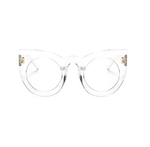 Frau HAOYUXIANG Mode Persönlichkeit Großen Kasten-Sonnenbrille,C6