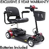 Pride Go-Go Elite Traveller Plus 4-Wheel Scooter Incl 5 Year Ext. Warr incl batteries