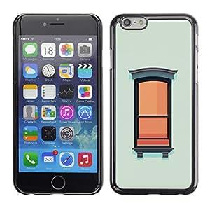 X-ray Impreso colorido protector duro espalda Funda piel de Shell para Apple iPhone 6 Plus(5.5 inches)- Window Wall Art Painting Oil Simplistic