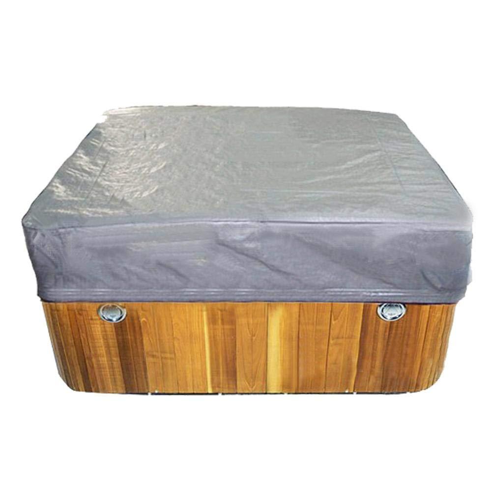 Bestlle Cubierta Cuadrada para Jacuzzi al Aire Libre Impermeable SPA ba/ñera Piscina Cubierta de Polvo Acogedor y Hermoso