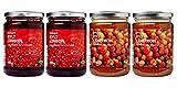 Ikea Organic Jam Bundle - Includes Total 4 Preserves - 2 SYLT LINGON Lingonberry Organic Preserves and 2 SYLT HJORTRON Cloudberry jam