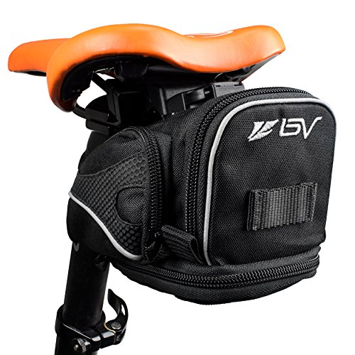 BV Bicycle Clip-On Expandable Saddle Seat Bag, Quick Release Buckle (Release Bag)