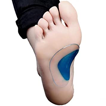 e77a72b343 Silicone Arch Support Insoles Flat Feet Correction Set of 2 Pairs Gel Orthopedic  Orthotic Insoles Cushion