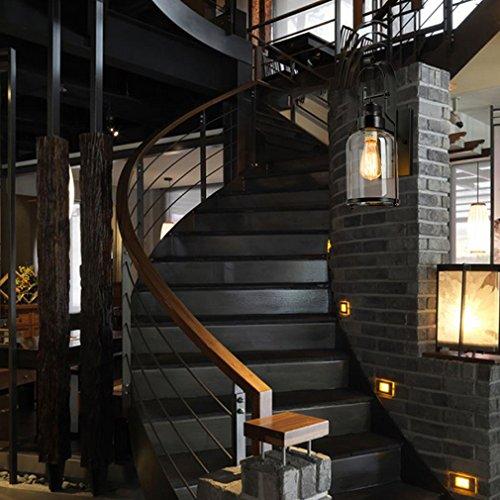 1411 Américain country allée chambre creative chevet verre mur lampe rétro style industriel bar éclairage XQQQ