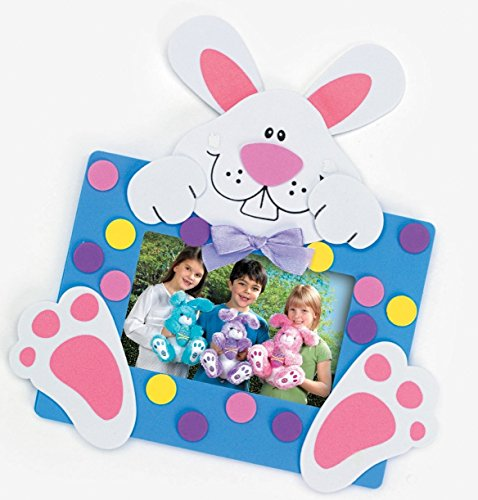 Easter Bunny Picture Frame Magnet Craft Kits (24 Kits) - Bunny Basket Craft