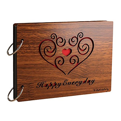 AENMIL Creative Commemorative DIY Photo Album, 8-inch Wood Gift Loose - leaf Photo Gallery - HAPPY EVERY DAY (Gift Card Electonic compare prices)