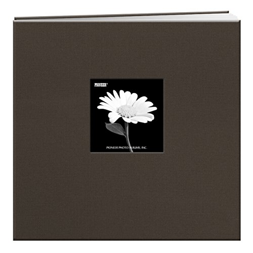 Pioneer 12-Inch by 12-Inch Fabric Frame Scrapbook, Warm Mocha (Frame Covered Picture Fabric)