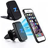 7Tech 2-IN-1 PREMIUM Universal Dashboard + Air Vent Magnetic Car Phone Mount Holder for Apple iPhones, Samsung & Other Smartphones -6 REINFORCED Magnets -Stick On Dashboard, Air Vent & Windshield
