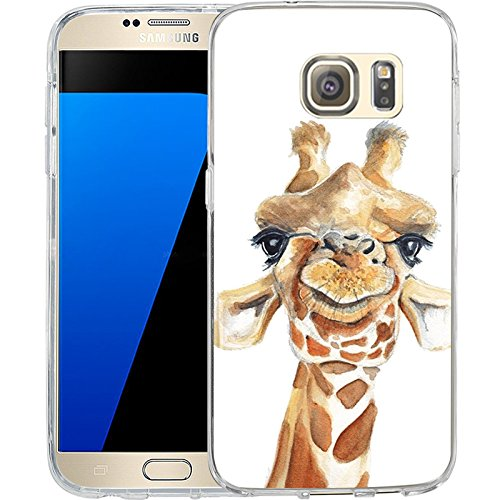 S7 Case Cartoon Giraffe, LAACO Scratch Resistant TPU Gel Rubber Soft Skin Silicone Protective Case Cover for Samsung Galaxy S7