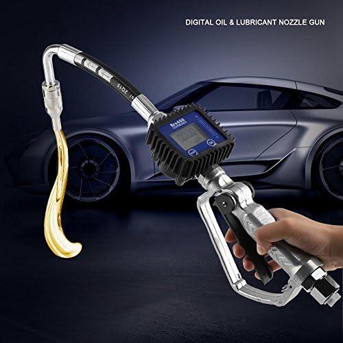 1pc Digital Boquilla de Lubricante de Aceite Combustible Boquilla de Abastecimiento de Combustible con Medidor de Corriente