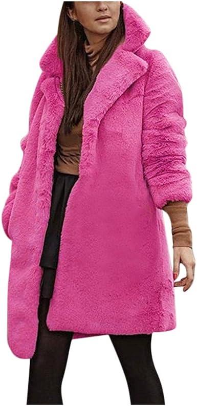 Women/'s Faux Fox Fur Coat Fluffy Tops Jacket Shaggy Outwear Cardigan